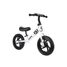 Дитячий беговел Baishs HS-A313 White безпедальний велосипед для дітей двоколісний 28 см