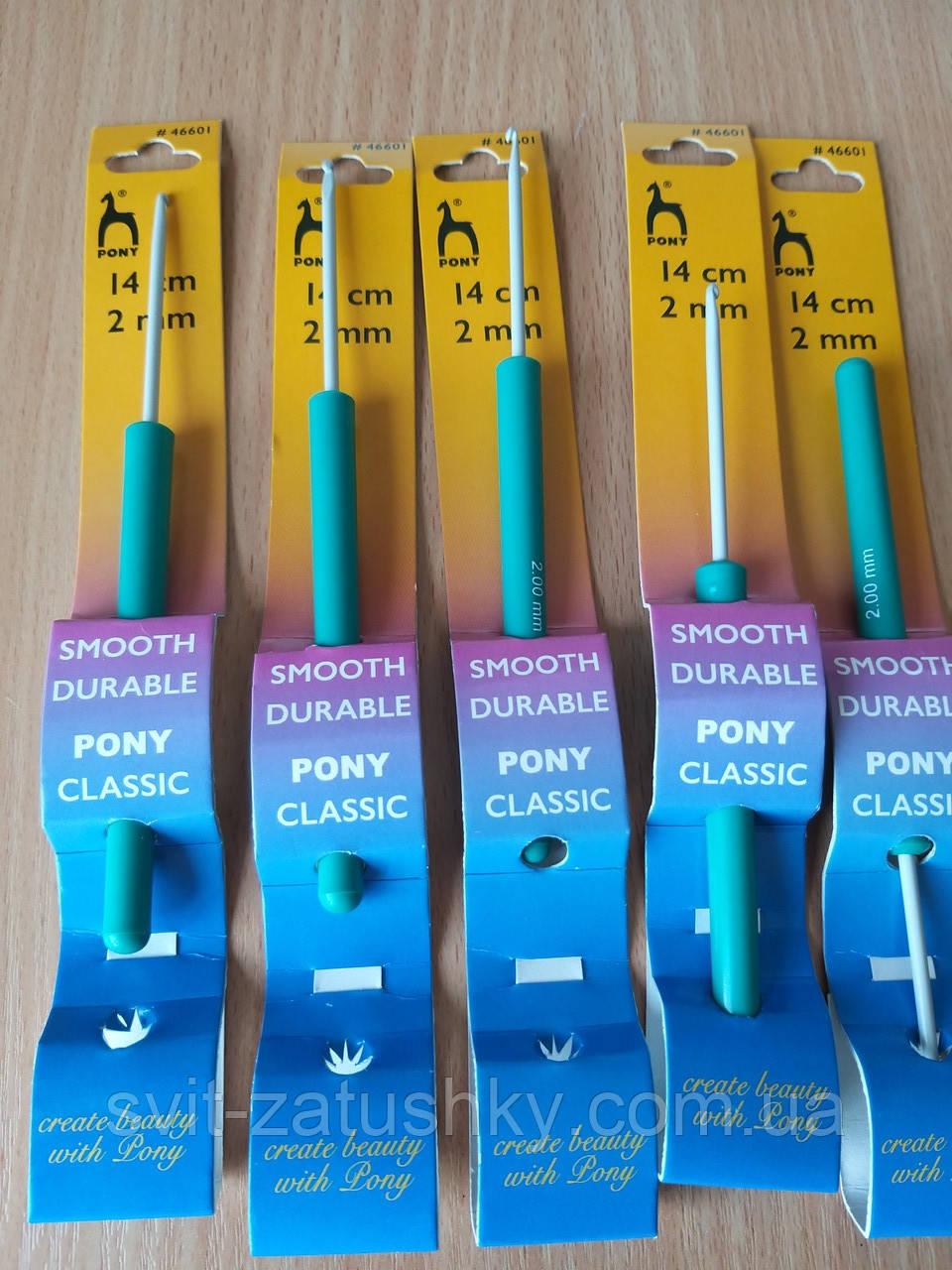 Крючок для вязания тефлоновый с пластиковой ручкой  № 2