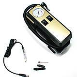 Автомобільний повітряний насос бездротовий для підкачки шин компресор AIKESI LB-70 з стрілочним манометром ліхтарем, фото 5