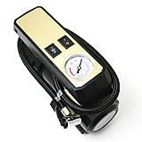 Автомобільний повітряний насос бездротовий для підкачки шин компресор AIKESI LB-70 з стрілочним манометром ліхтарем, фото 7