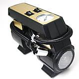Автомобільний повітряний насос бездротовий для підкачки шин компресор AIKESI LB-70 з стрілочним манометром ліхтарем, фото 9