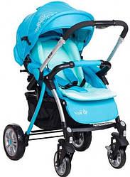 Детская прогулочная коляска Bair Fox blue (Беир Фокс)