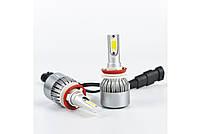 Світлодіодні автомобільні LED лампи C6 H8 для фар авто комплект світлодіодних лід ламп автолампи з цоколем, фото 4