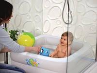 Бассейн детский с надувным дном Детский надувной бассейн с мягким дном Бассейн для малышей надувной 51116