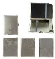 Портсигар-зажигалка 0473506 д.16 KS, комбокейс, металл, 4 венец. дизайна, резин.