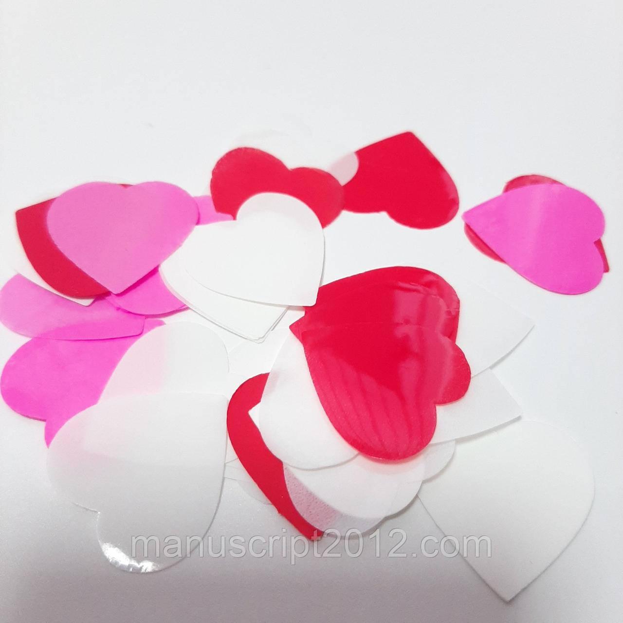 Конфетті - сердечка 25 мм. (25 р.)