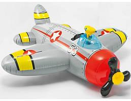 Детский плотик-самолет с водяным оружием INTEX (57537) 132*130см