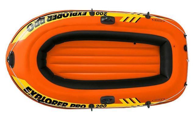 Полутораместная надувная лодка Intex 58356 Explorer Pro 200, 196 х 102 см
