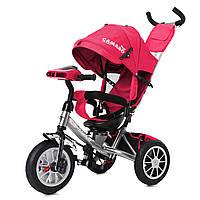 Детский трехколесный велосипед на серой раме TILLY Camaro T-362/2 музыка свет поворотное сидение