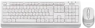 Клавіатура і миша A4Tech FG1010 бездротові White/Grey