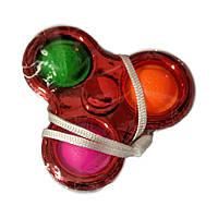 Сенсорна іграшка Simple Dimple поп іт антистрес сімпл дімпл спинер червоний