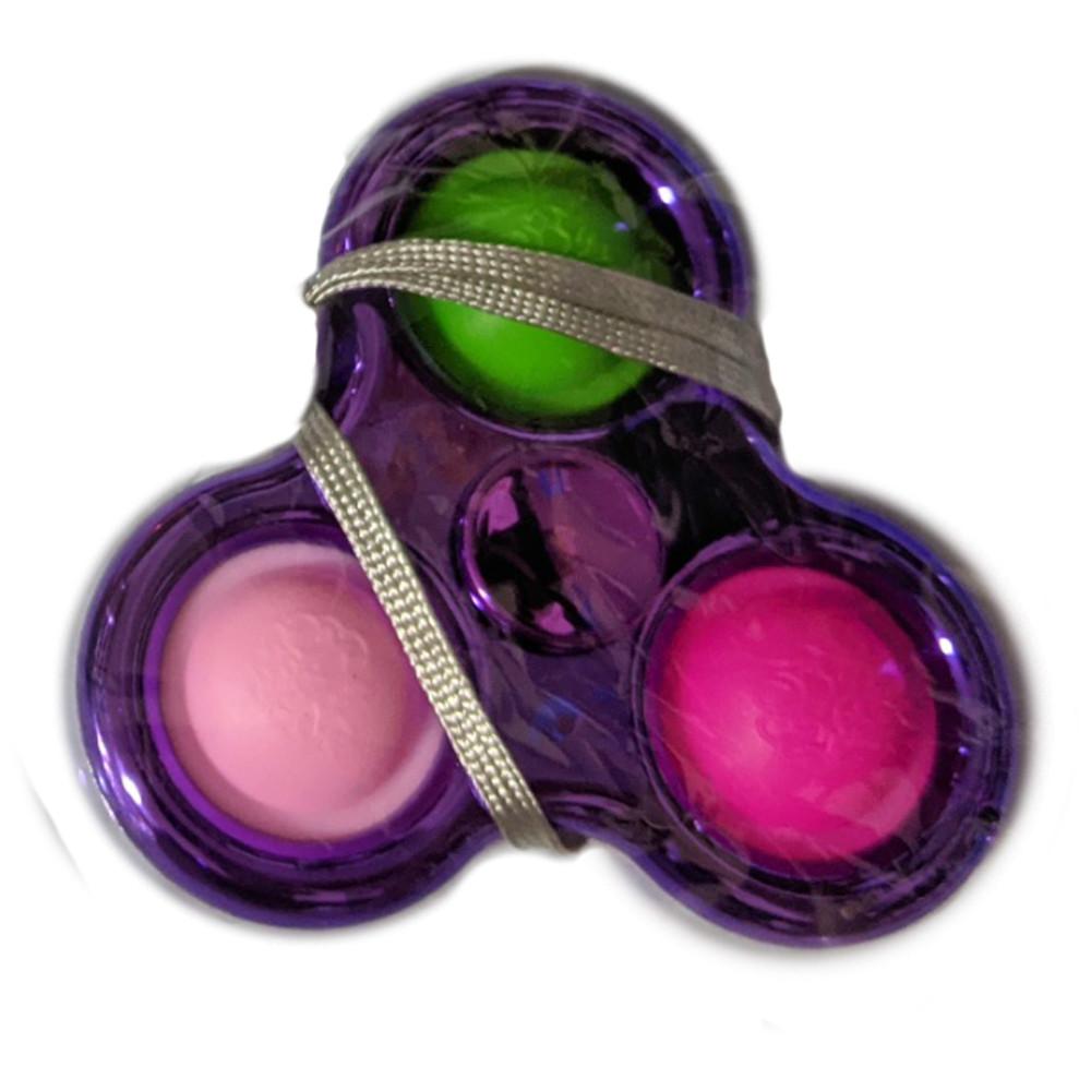 Сенсорна іграшка Simple Dimple поп іт антистрес сімпл дімпл спинер фіолетовий