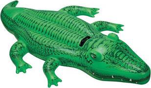 Надувной плот Крокодил Intex 58562 (203х114 см) Зелёный