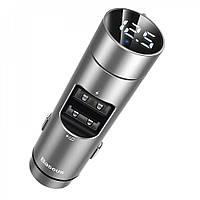 FM-трансмітер модулятор Baseus Energy Column MP3 Charger (CCNLZ-0G) Grey