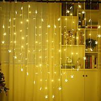 Нічник в кімнату у формі серця з метеликами 3х2 м Золотий, 8 режимів, від мережі