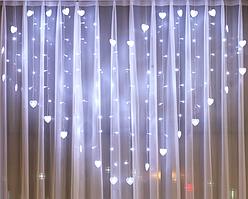 Ночник в комнату в форме Сердца 3*2 м (холодный белый), 8 режимов, от сети