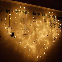 Ночник в комнату в форме сердца 3х2 м Теплый белый, 8 режимов, от сети