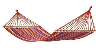 Гамак гавайський la siesta з поперечиною посилений різнобарвний 2х.1,5