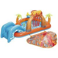 Бассейн детский надувной Bestway Лагуна, 265-265-104см, горка, с брызгами, 53069