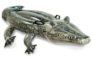 Надувной плот Аллигатор Intex 57551 (170х86 см) Серый