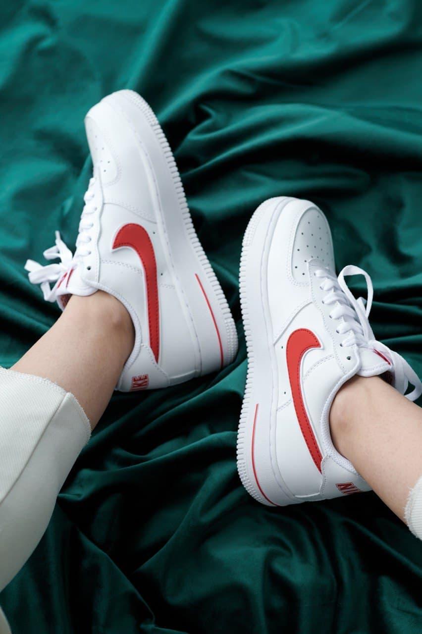 Мужские кроссовки Nike Air Force 1 White/Red