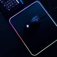 Игровая поверхность RGB-S с подсветкой (25x35x3mm) black