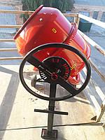 Строительная Электрическая бетономешалка на 140 л с чугунным венцом FORTE EW6140P бытовая 650 Вт