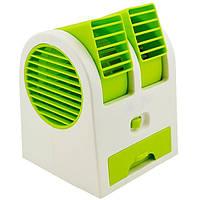 Вентилятор бытовой настольный Mini Fan Cooler MY-0199 зеленый