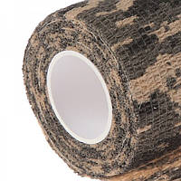 Бинт бандажний эластичный 4,5см на 5м, камуфляж коричневый