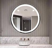 Зеркало круглое с подсветкой DUSEL LED DE-M2071D Silver 80смх80см сенсорное включение+подогрев
