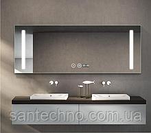 Зеркало с подсветкой DUSEL LED DE-M1041 80смх65см сенсорное включение+подогрев+часы/темп+Bluetooth