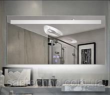 Зеркало с подсветкой DUSEL LED DE-M3021 100смх75см сенсорное включение+подогрев+часы/темп