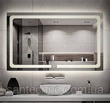 Зеркало с подсветкой DUSEL LED DE-M3001 90смх70см сенсорное включение+подогрев+часы/темп