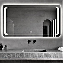 Зеркало с подсветкой  DUSEL LED DE-M3031 120смх75см (cенсорное включение+подогрев)