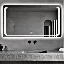 Зеркало с подсветкой DUSEL LED DE-M3031 100смх75см cенсорное включение+ подогрев