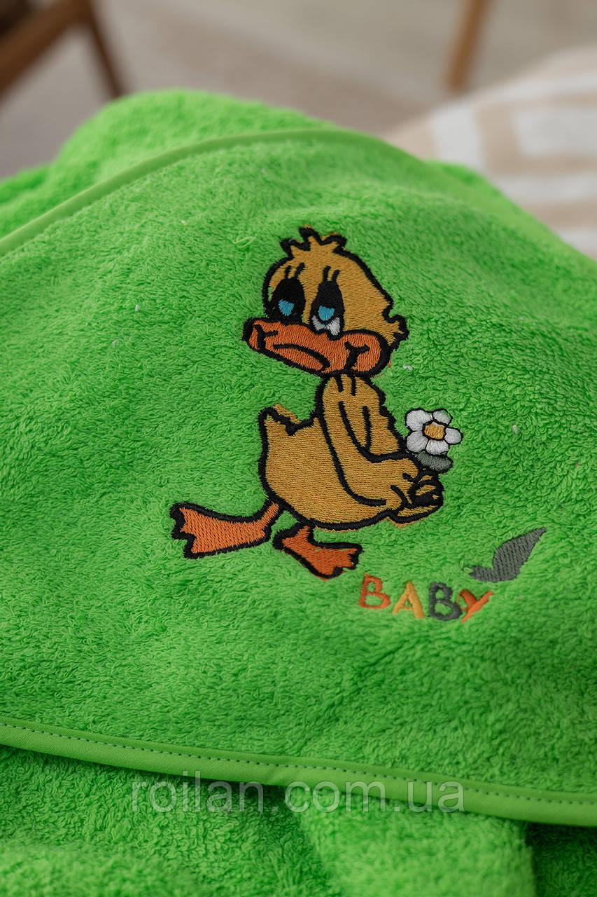 Дитячий капюшон для купання Каченя
