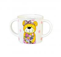 Чашка детская Медвежонок 300 мл KERAMIA розовая