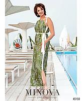Красивое шелковое платье на бретелях с 46 по 68 размер, фото 4
