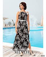Красивое шелковое платье на бретелях с 46 по 68 размер, фото 5