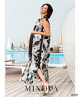 Красивое шелковое платье на бретелях с 46 по 68 размер, фото 6