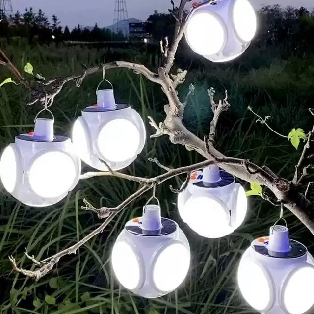 Новинка! Светодиодная уличная лампа на солнечной батарее. Светильник с аккумулятором и USB шнуром.