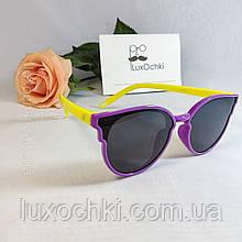 Дитячі поляризовані силіконові окуляри для дівчаток до 7 - ми років неломайки