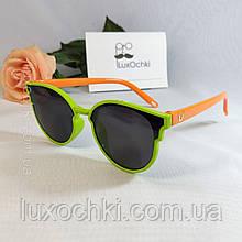 Дитячі поляризовані силіконові окуляри неломайки для дівчаток до 7-ми років