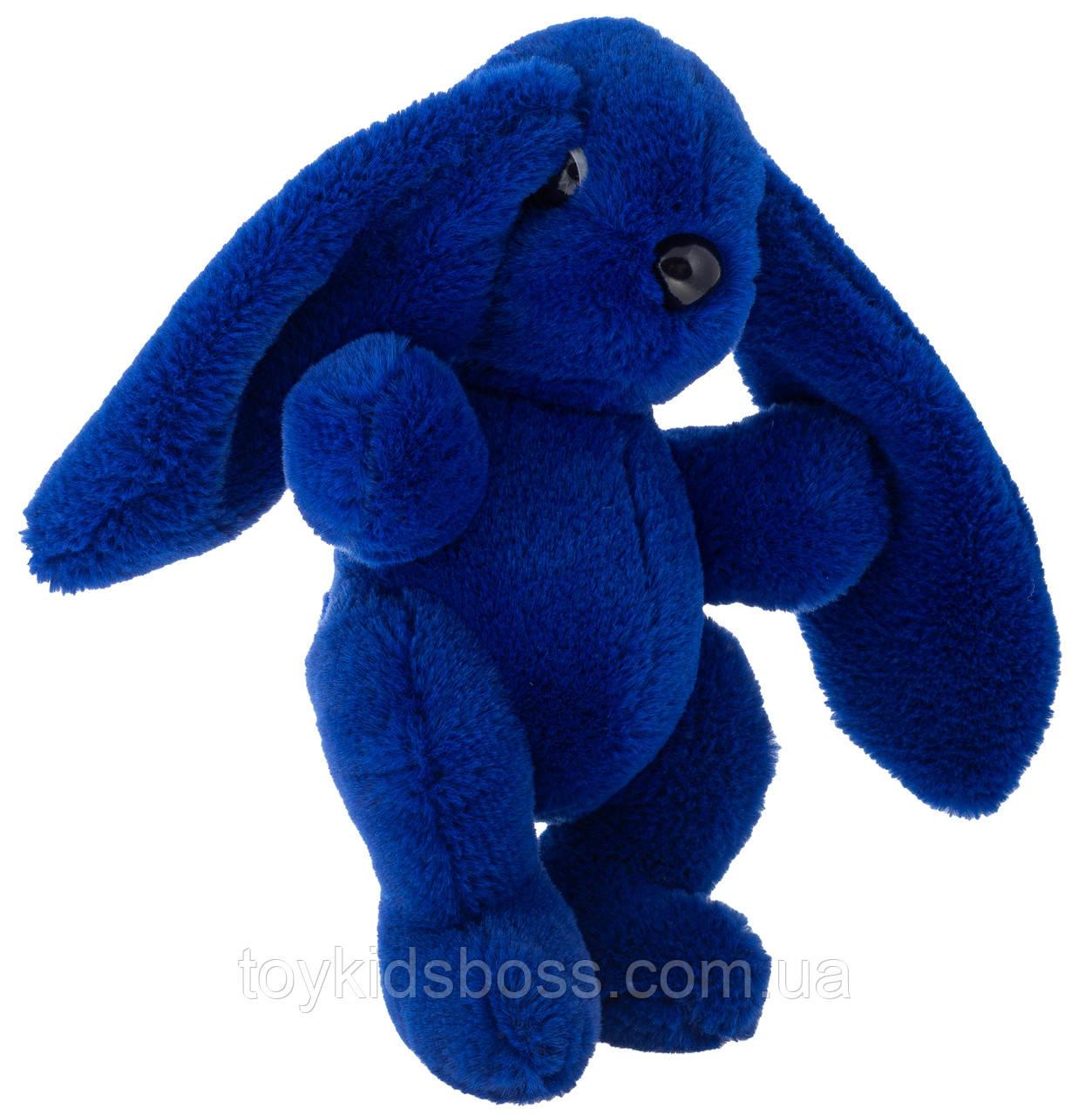 Кролик 30 см Аліна синій