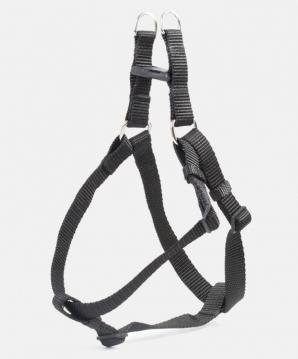 Шлея нейлон чорна 20мм для собак КР3061-07