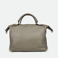 Мягкая женская сумка через плечо бежевая кожаная 81082