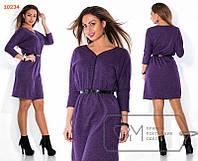 Женское платье для пышных дам.Код-273-ф-48 размер