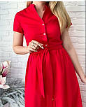 "Довге коттоновое сукню на гудзиках ""Lesley""| Батал, фото 2"