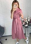 "Довге коттоновое сукню на гудзиках ""Lesley""| Батал, фото 9"