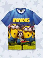 Прикольная футболка Вечеринка у миньонов, фото 1